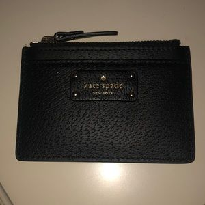 Kate Spade Card Holder in black leather